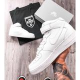 Nike Air Force High Blancas Negras Oferta