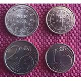 Monedas De Portugal 1,2 Euro Cents 2008   Lot 2 Pcs Unc. Mlc