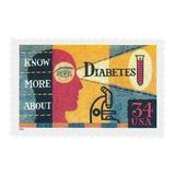 Us Sc #3503 ¿ 2001 34c Diabetes Awarene, Usada Con Matasello