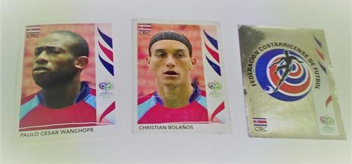 Postales De La Selección De Costa Rica Panini Alemania 2006