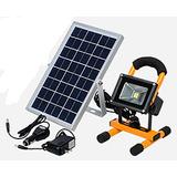 Reflector Led Solar Portatil 10w 2 Años De Garantia