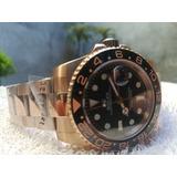 Rolex Gmt  Master  Ii  4 Agujas Gold Ross