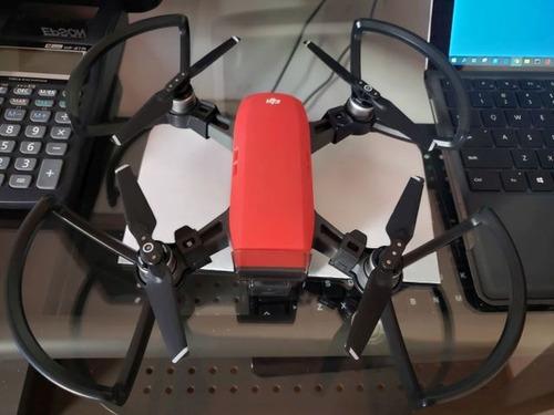 Drone Dji Spark Como Nuevo Rojo & Accesorios