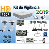 Kit De Vigilancia Seguridad Hikvision 4 Cámaras 720p