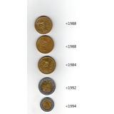 Lote De Monedas De Mexico Circuladas Pesos Mexicanos 1980-90
