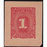 Nicaragua Postal Stationery 1896 Sello Sobre Postal 1 Cent.