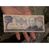 Billete 500 Colones Banco Central De Costa Rica Serie Roja.