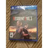 Ps4 Fisico Resident Evil 3 Remake Espa Nuevo Sellado Fisico