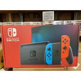Nintendo Switch Consola Neón Rojo Y Azul Sellado En Caja