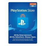 Psn Playstation Store $25 - Ps3 | Ps4 | Ps Vita - Usa