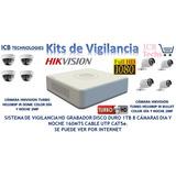 Sistema De Seguridad Hikvision 8 Cámaras Hd 1080p 1tb 160mts