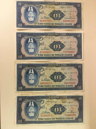 Billetes De 10 Cls. De 1970 Exc. Estado !!!