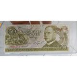 Billete 50c 1974, Banco Central Costa Rica, Muy Buen Estado.