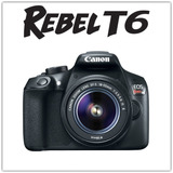 Canon Dslr Eos Rebel T6 + Lente 18-55 Kit - Inteldeals