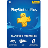 Membresía Playstation Plus 3 Meses Ps3 Ps4 Ps Vita