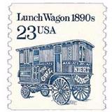 Us Sc #2464 ¿ 1991 23c Lunch Wagon Coil Con Matasello.