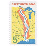 Us Sc #1319 - 1966 5c Great River Road Con Matasello.