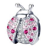 Charm  Mariquita Brillante, Joyería Compatible Con Pandora