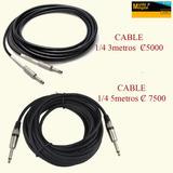 Cable Para Audio 1/4 Guitaras Micrófonos