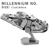 Aipin Diy 3d Metal Aircraft Carrier Puzzle Kit Star Wars