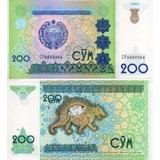 Billete De Uzbekistan 200 Cym Unc Apo