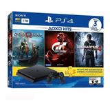 Playstation 4 Slim 1tb 3 Juegos Gow Uncharted 4 Y Gt6