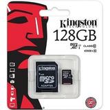Memoria Microsd De 128gb Con Adaptador Sd Kingston Clase 10
