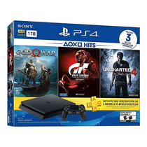 Playstation 4 1tb,3juegos Gow4,gt6,unch4, Fact Electronica