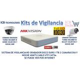 Sistema De Seguridad Hikvision 2 Cámaras Hd 1080p Icb Techs