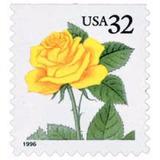 Us Sc #3049 - 1996 32c S/a Yellow Rose ,  Con Matasello.