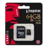 Micro Sd Kingston *clase 10 64gb *garantia 12 Meses