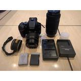 Cámara Nikon D3500 Con Lentes 18-55 Y 70-300