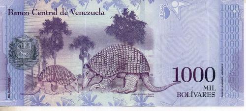 Billete De Venezuela 1000 Bolivares Unc Apo