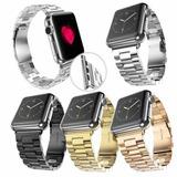 Brazalete Metalico Grueso Para Apple Watch 42 Mm