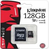 Memoria Micro Kingston 128gb Clase 10 Adaptador Sd
