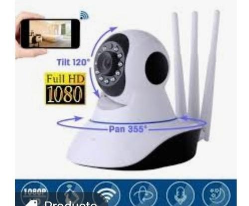 Camara De Seguridad 360 Grados 3 Antenas Wifi Nocturna 1080