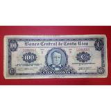 Billete Antiguo De Costa Rica 1er Fecha 100 Col 18/10/61 Jmg