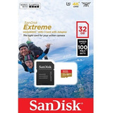Sandisk Extreme 32gb 4k (adap. Microsdxc A Sd Incluido)