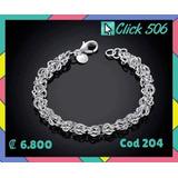 Pulsera Aros Trenzados Plata Laminada Click506