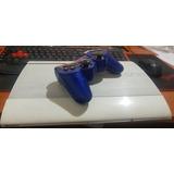 Ps3 Super Slim Blanco Usado Con Control Original Azul