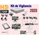 Kit De Vigilancia Hikvision 2 Cam Hd 720p 500gb 40mts Ofe