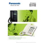 Teléfono Nuevo Panasonic Con Pantalla Y Altavoz T7705