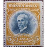 Costa Rica 1907 Sc #62 Mauro Fernández 5c Con Matasello.