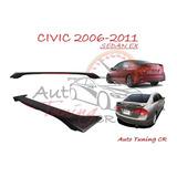 Coleta Spoiler Tapa Baul Honda Civic 2006-2011 Sedan Ex