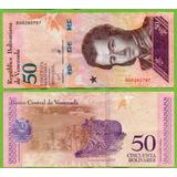 Billete De Venezuela 50 Bolivares 2018 P-new Aunc.. Mlc