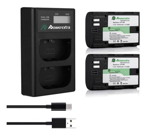 Kit Baterias Y Cargador Canon Lp-e6