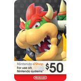 50 Usd Ecash Tarjeta Nintendo Eshop Switch Wii U 3ds