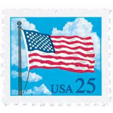 Us Sc #2285a - 1987-88 25c Flag & Clouds From Bookl Usada