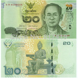 Billete De Tailandia 20 Bath 2 Unc Apo