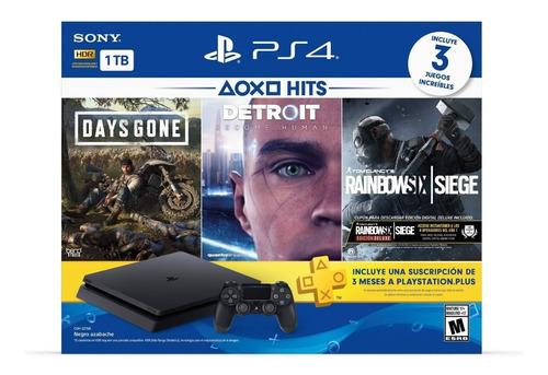 Play Station 4 Ps4  3 Juegos Y Disco 1tb Avenida Tecnologoc